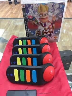 Buzz Quiz TV with 4 wireless buzzers PS3