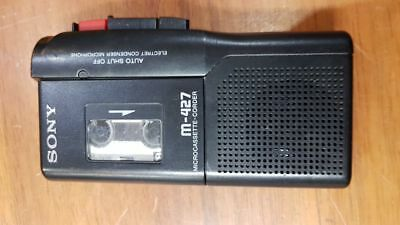 Sony M-427 Microcassette Handheld Tape Recorder Voice Playback Dictaphone VOR