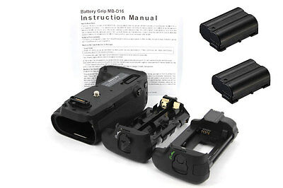 Vertical Multi-power hand Grip for Nikon D750 +2 Decode ENEL15 battery as MB-D16