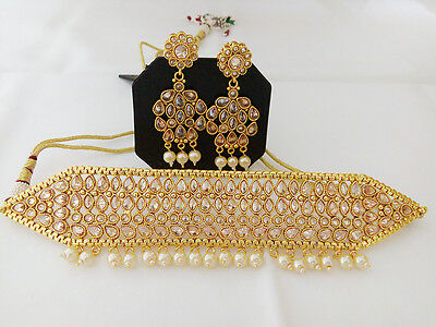 Indian Jewelry Choker Chick Necklace Bollywood Ethnic Gold Plated Traditional