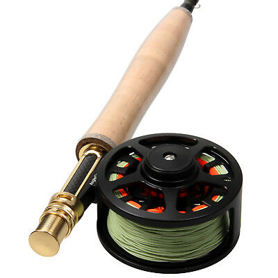 Fly Rod and Reel Combo Carbon Fiber Fly Fishing Rod  CNC Machined Fly Reel &Line