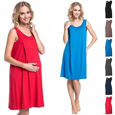 Happy Mama. Women's Maternity Nursing Nightdress Gown Nightshirt Pregnancy. 994p