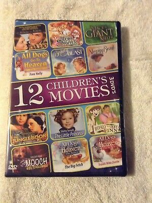 12 Childrens Movies (DVD, 2014, 3-Disc Set)