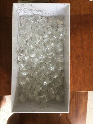 118 Chandelier Balls- Crystal Cut K9 Glass With No Chips. 20mm With Steel String