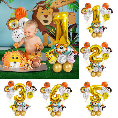 25Pcs First Baby Birthday Foil Balloon Set Kid Boy Girl 1st Party Balloons Decor