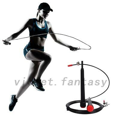 3M Adjustable Steel Cable Jump Ropes Skip to Master Double Unders Gym Training