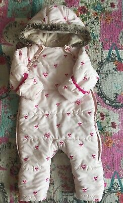 Baby Girls Ted Baker Snow Suit Age 12/18 Months