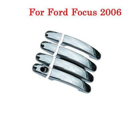 8pcs ABS Covers Car Auto Door Handle Cover Chrome Trim Fit For Ford Focus 2006