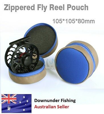 1 X Zippered Fly Reel Pouch - Fits Up To 7/8 Size Reel