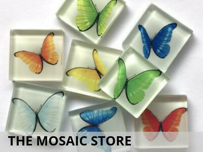 Butterfly Kaleidoscope - Glass Tiles 2.5cm - Mosaic Art Craft Supplies