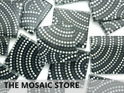 Patterned Handmade Glass Tiles 2.5cm - Art Craft Mosaic Tiles Supplies
