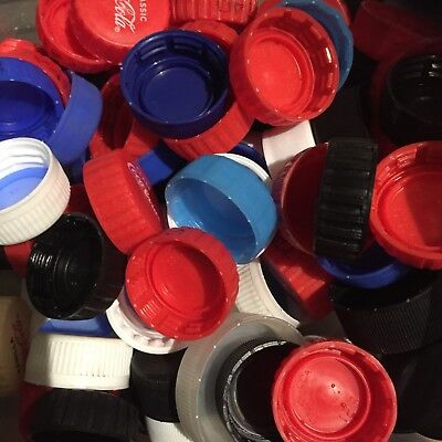 50x Mix of Plastic Bottle Tops/Caps Arts And Crafts