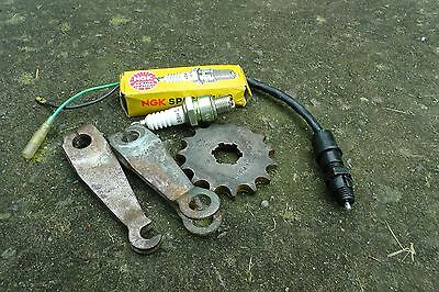 Yamaha Rxs100 Brake Arms, Stop Light Switch, Spark Plug, 15T Gearbox Sprocket