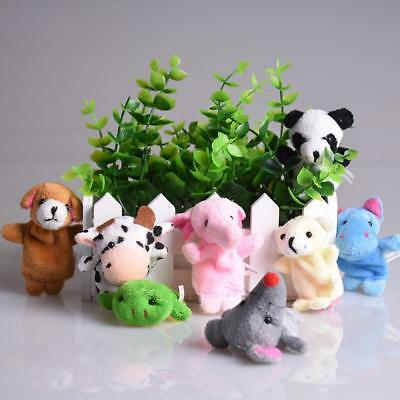 Bset 5pcs Cute Mixed Animal Finger Puppets Plush Cloth Doll Development Baby