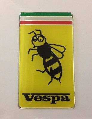 VESPA WASP Sticker/Decal - 72mm x 41mm HIGH GLOSS DOMED GEL - SCOOTER - MOPED