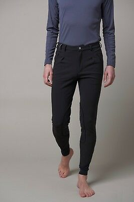 NEW! Noble Outfitters Mens Softshell Breeches Black Size 30 - 32