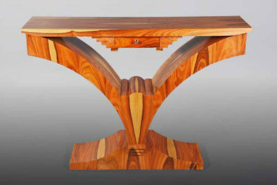 intarsierte Console Table in the Art Deco Style