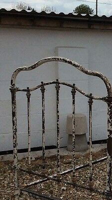 antique french single metal bed .