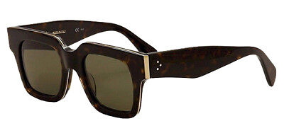 Celine Strat Screen Dark Havana Gold Sunglasses Made In Italy 41097S 0Z06 49
