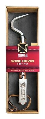 Noble Outfitters Wine Down Hoof Pick / Wine Bottle Opener Wood Grain