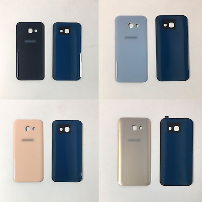 New Samsung Galaxy A3 A320F 2017 Rear Glass Back Battery Cover With Adhesive