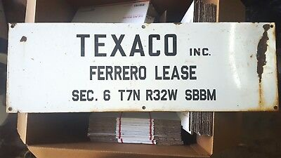 TEXACO Lease Sign 12x36 Porcelain
