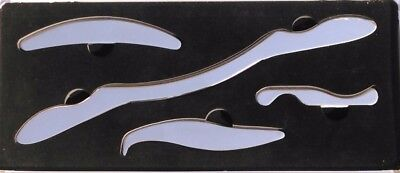 IASTM Tools. Set of 4. Professional grade stainless steel.