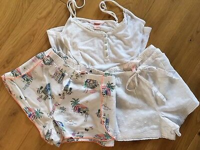 Victoria's Secret Pyjama set. Shorts x2 & vest top. Small