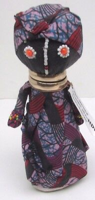 Authentic Ndebele Doll 9'' Bead Handcrafted Kwandebele South Africa Pink/Red