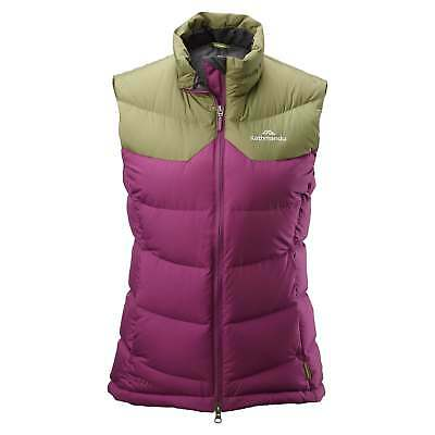 Kathmandu Epiq Womens Sleeveless Warm Outdoor Duck Down Puffer Vest Purple Green