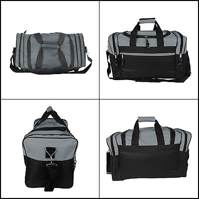 Sports Duffle Gym Bag Men Workout Crossfit Fitness Travel Luggage Skating Gears