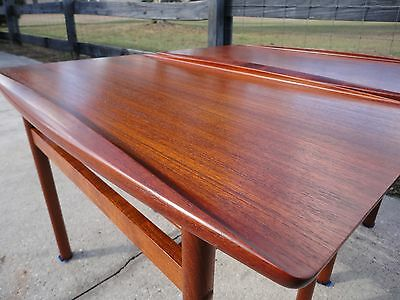 Grete Jalk Danish Teak Coffee End Tables Mid Century Modern Atomic Ranch Retro