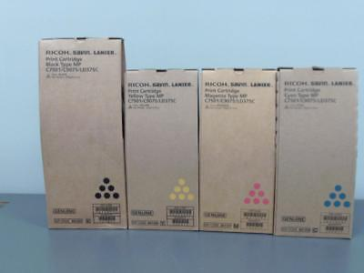 New Genuine RICOH SAVIN LANIER MP C7501/C9075/LD375C Print Cartridge Set