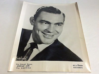 Vintage Jim Edward Brown featured with The Browns ~ RCA Victor ~ Photograph 8x10