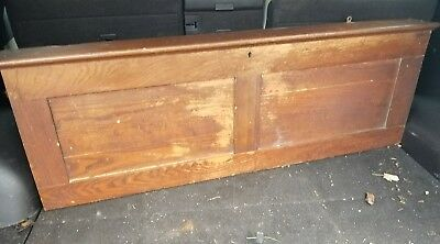 Antique Oak School Pull down Map Case With Maps early 1900s
