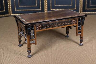 Oriental Coffee Table Table with Inlays Marrakech Um 1900
