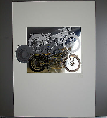 RARE BMW R32 R 32 Series Classic Sport Motorcycle Motorrad Art Collection Poster