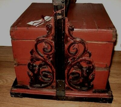 Antique 1800's  2-Tier Stacking Nesting Chinese Wedding box  chest
