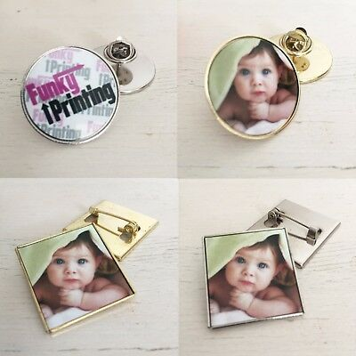 Personalised Tie Pin, Badge, Brooch, Custom Any Pic Logo Promo, Wedding Gift Pin