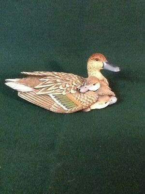 Heritage Artists JB Barton Miniature Collection Pintail Hen & Chicks Figurine