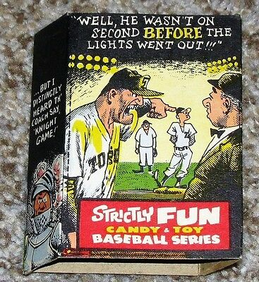RARE Vintage 1960s Phoenix Candy and Toy Box Baseball Series Strictly Fun Box