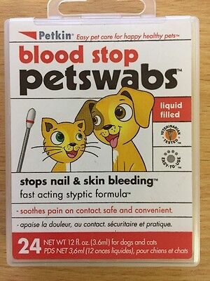Blood Stop Swabs, Stops Nails & Skin Bleeding for Dogs,Cats& Small Animals
