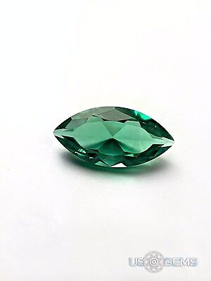 Emerald Bluish Green #117 Marquise 7x3,5 mm 0,4 ct. SIAMITE Created Gemstone US@