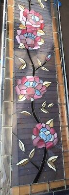 Antique Leaded Stained Glass Window Vintage Salvage Arts