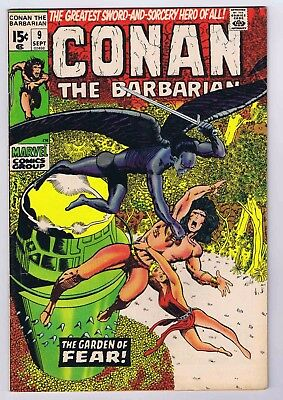 Conan The Barbarian #9 VG/FN- Off White Pages 1971 Barry Smith 1st Print Marvel