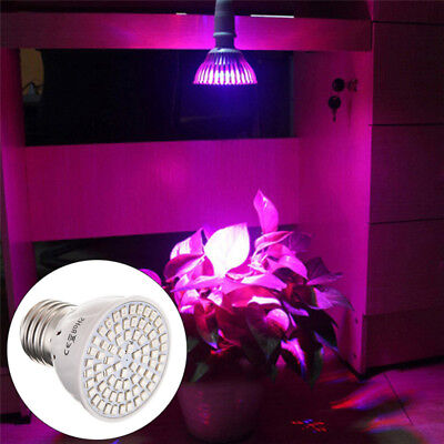 E27 5W 220V 72LED Plant Grow Light Bulbs Lamp Hydroponic For Indoor Plants Weeds
