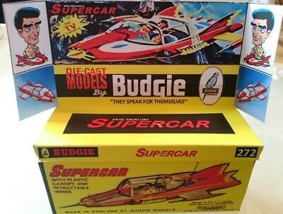 BUDGIE SUPERCAR No. 272 Gerry Anderson Reproduction box and diorama tray