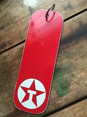 Vintage Texaco Women Restroom Washroom Metal Gas Oil Key Tag Sign