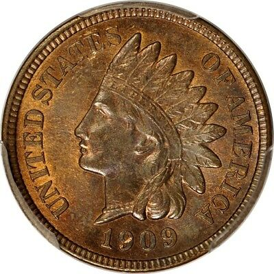 1909 1C Indian Cent PCGS MS63RB (PHOTO SEAL)