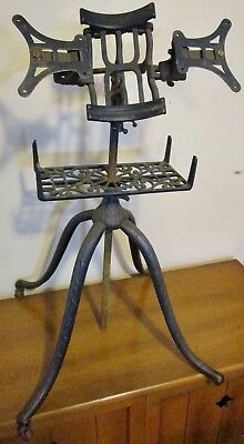 Antique Vintage Victorian Cast Iron Bible Book Holder Stand For Restoration